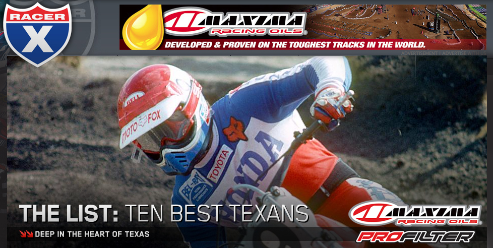 Racer X — The List: Ten Best Texans